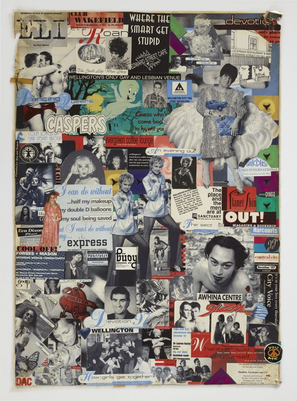 Collage, circa 1997, Wellington, by Chrissy Witoko. Gift of the Witoko family in memory of Chrissy Witoko, 2012. Te Papa (GH015952)