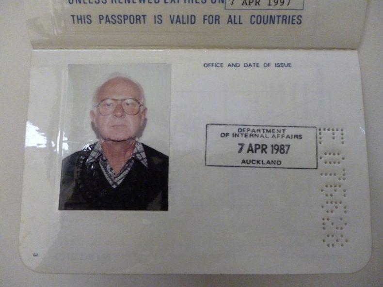 New Zealand Passport of Brian Brake