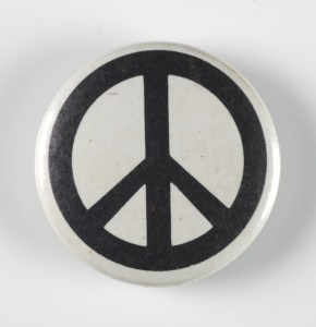 Campaign for Nuclear Disarmament symbol - black on white