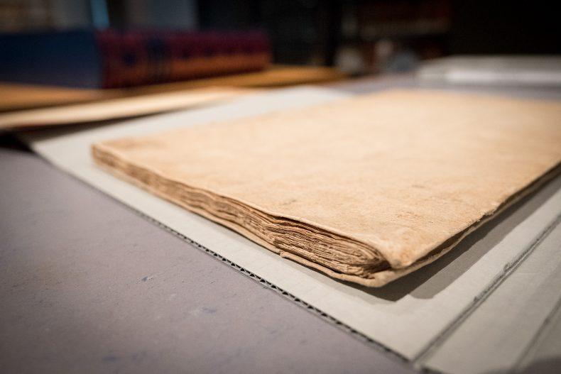 A beige, plain, book cover
