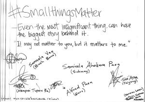 Small Things Matter