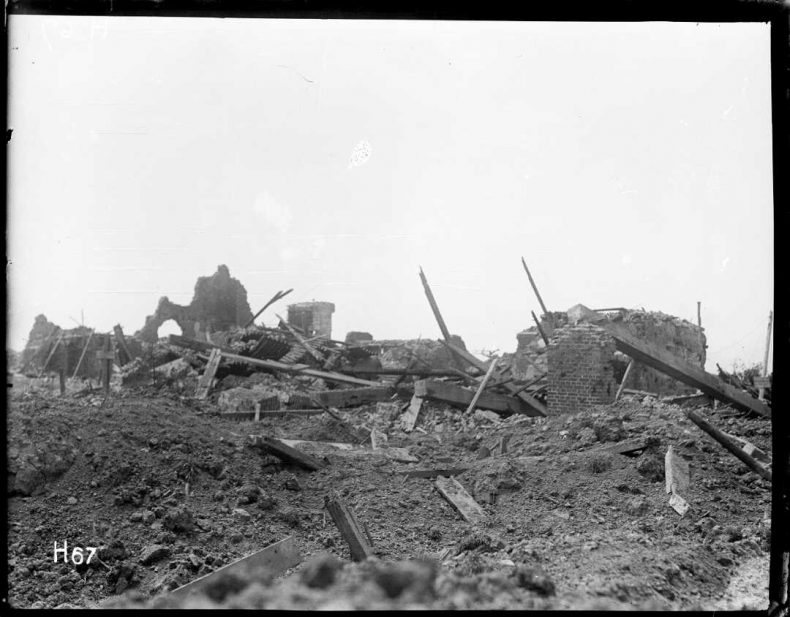 Ruins of a building, Messines