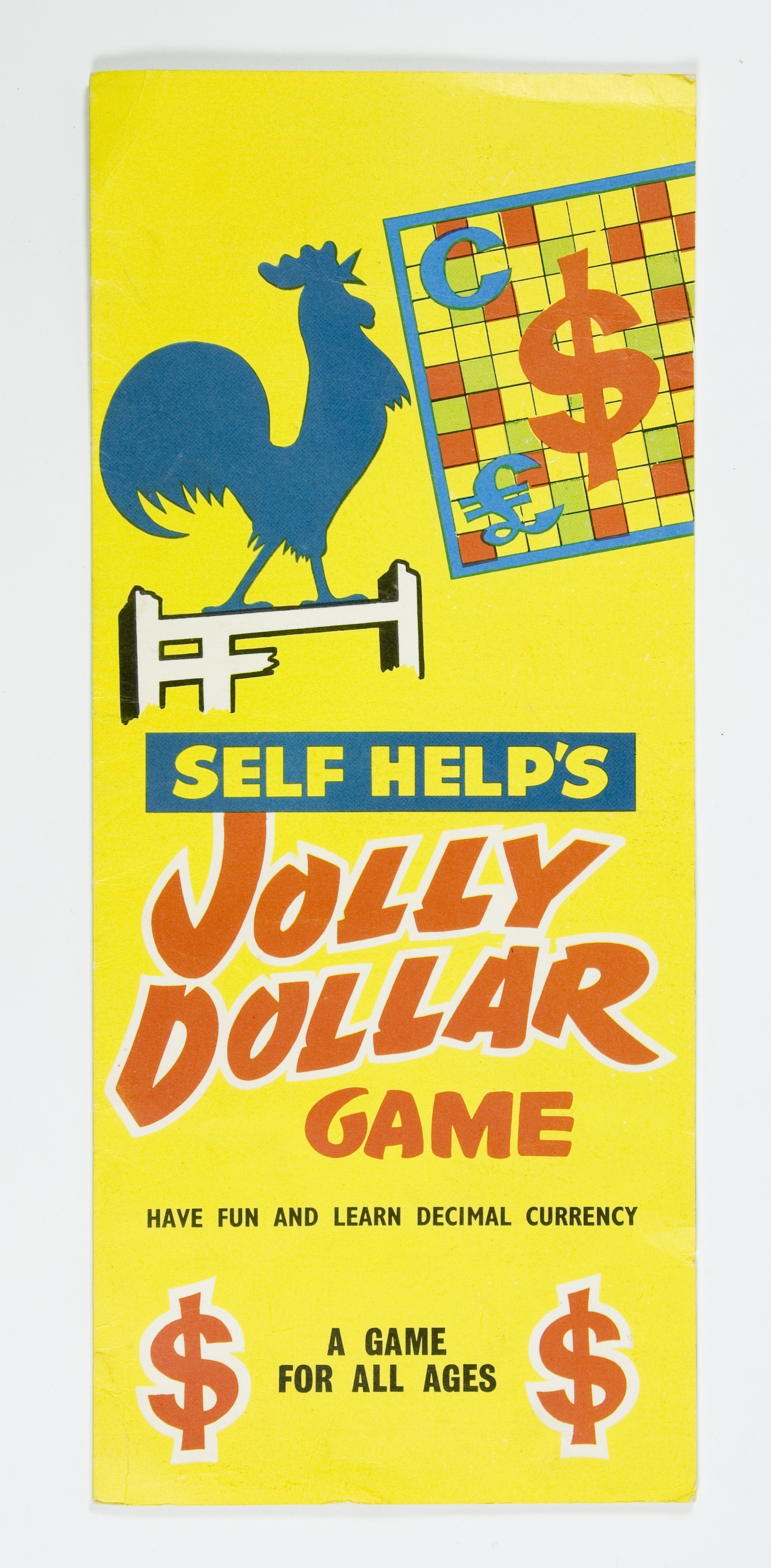 Board game called 'Self Help's Jolly Dollar'