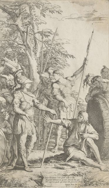 Etching of Alexander the Great