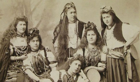 Ladies in gypsy clothing