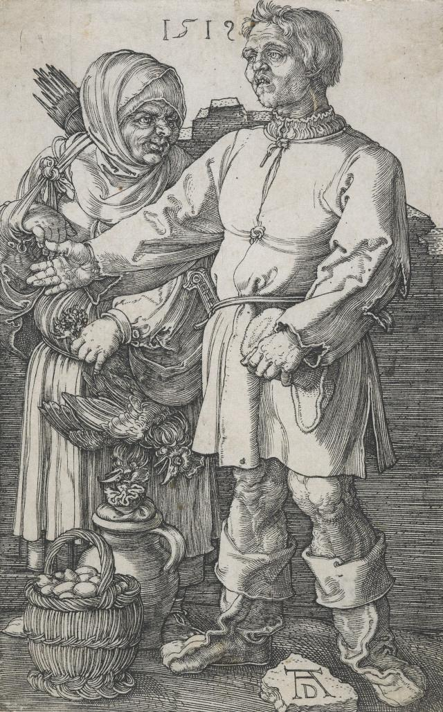 The peasant couple at market