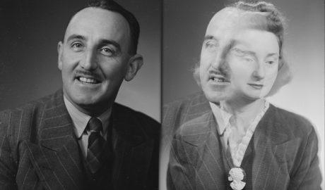 Mr Ken Waller, 1946. Spencer Digby Studios. Half-plate negative. Te Papa, B.063134 variant