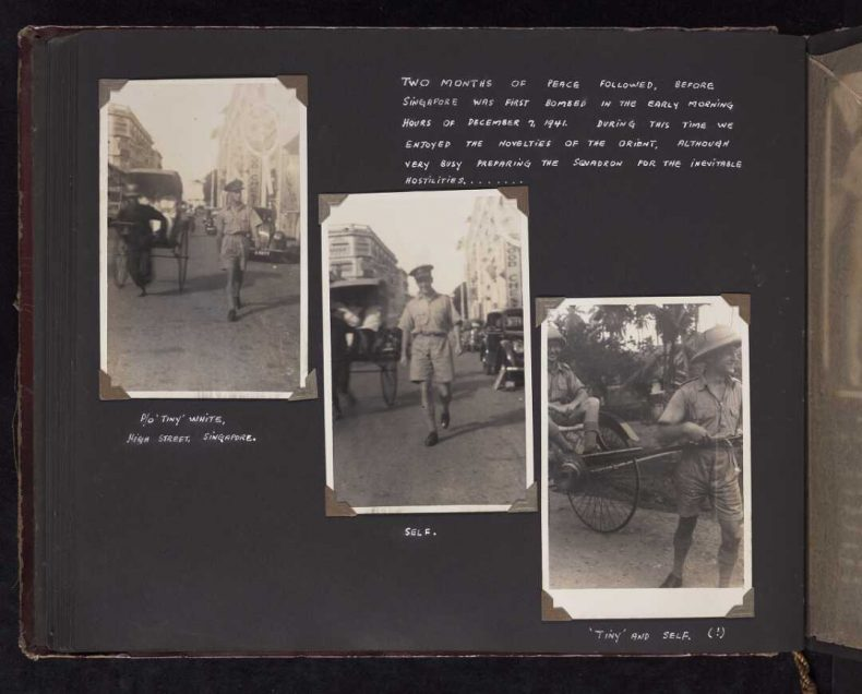 Photograph album of Cecil Franks' service during World War II