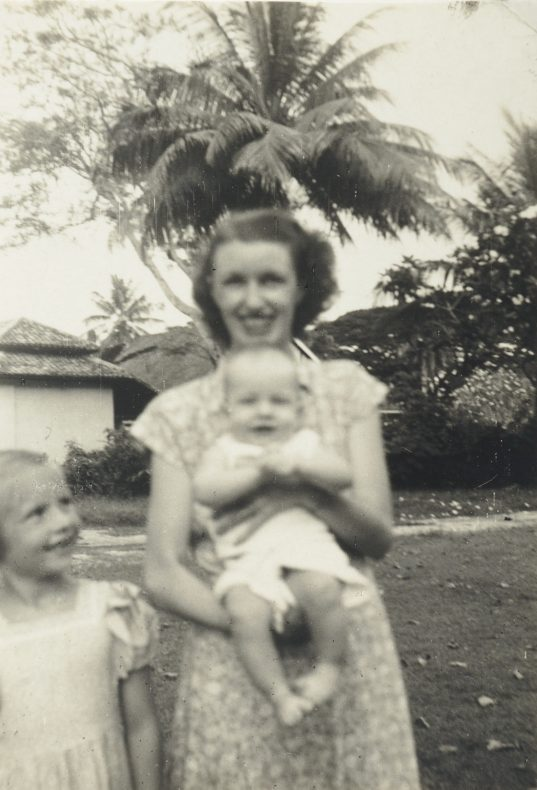 Kathleen Pether with children John and Maureen