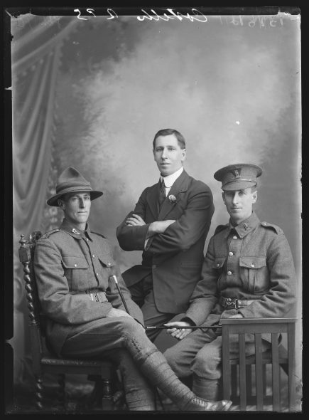 Portrait of Herbert, William and Frederick Costello