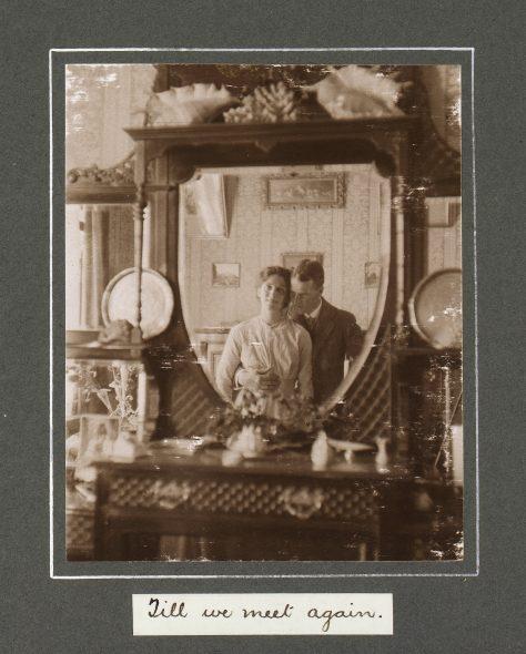 Sunday at Hastings, 28 December 1913 Till we meet again. From the album Photograph album; 1913; Adkin, Leslie, 29 December 1913, Hastings, by Leslie Adkin. Te Papa (O.031239)