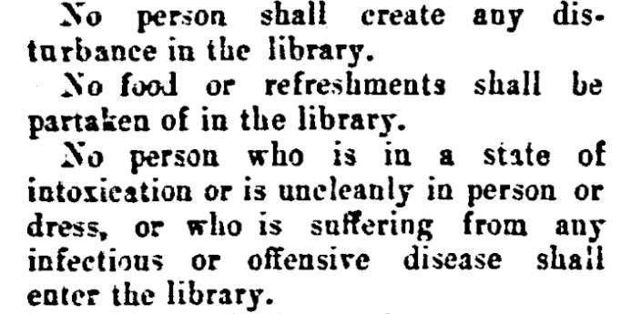 Rules from Carnegie Library