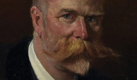 Painting of man with big moustache