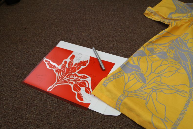 Sig Zane's hand-cut design for his Kalaukī aloha shirt. Photo: Claire Regnault