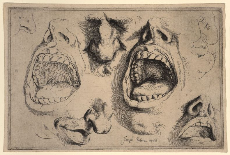 Studies of nose mouth