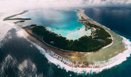 Aerial view of Atafu atoll