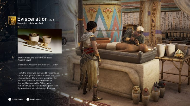 Learn all about mummification in the Discovery Tour. Credit: Ubisoft.