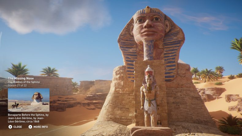 Or visit the Great Sphinx of Giza. Credit: Ubisoft.