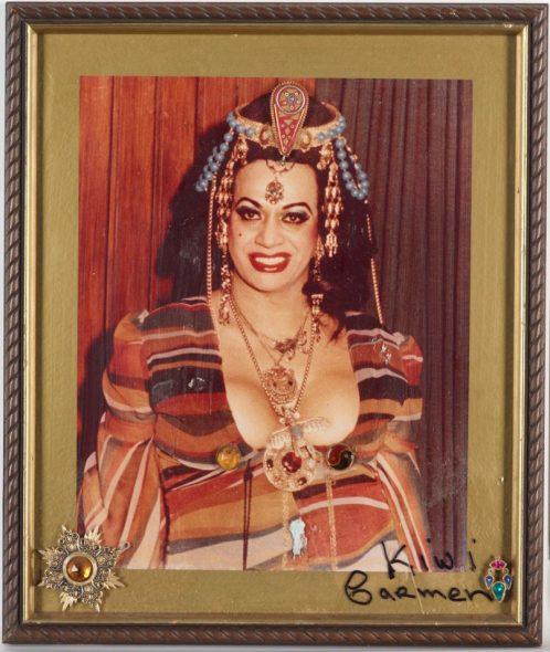 Framed photograph of Carmen Rupe