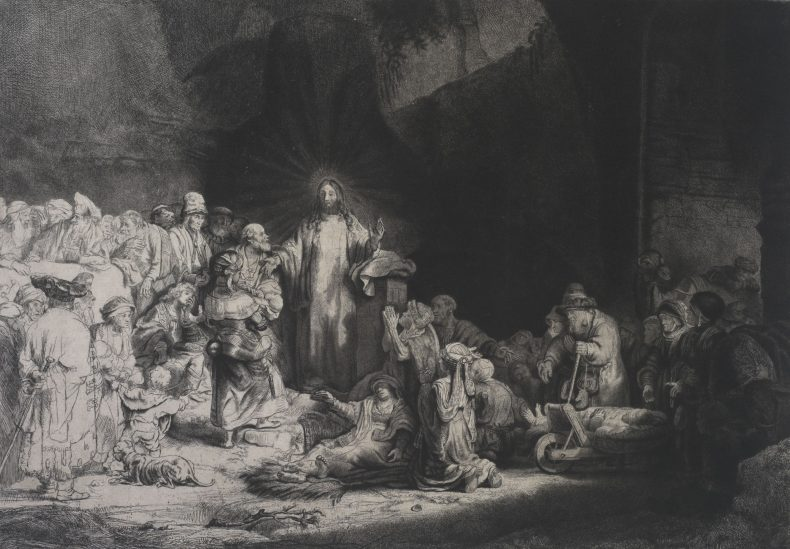 Rembrandt's 'Christ healing the sick'