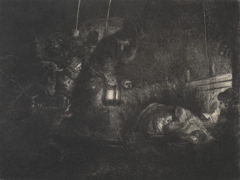 Rembrandt's 'The adoration of the shepherds: a night piece'