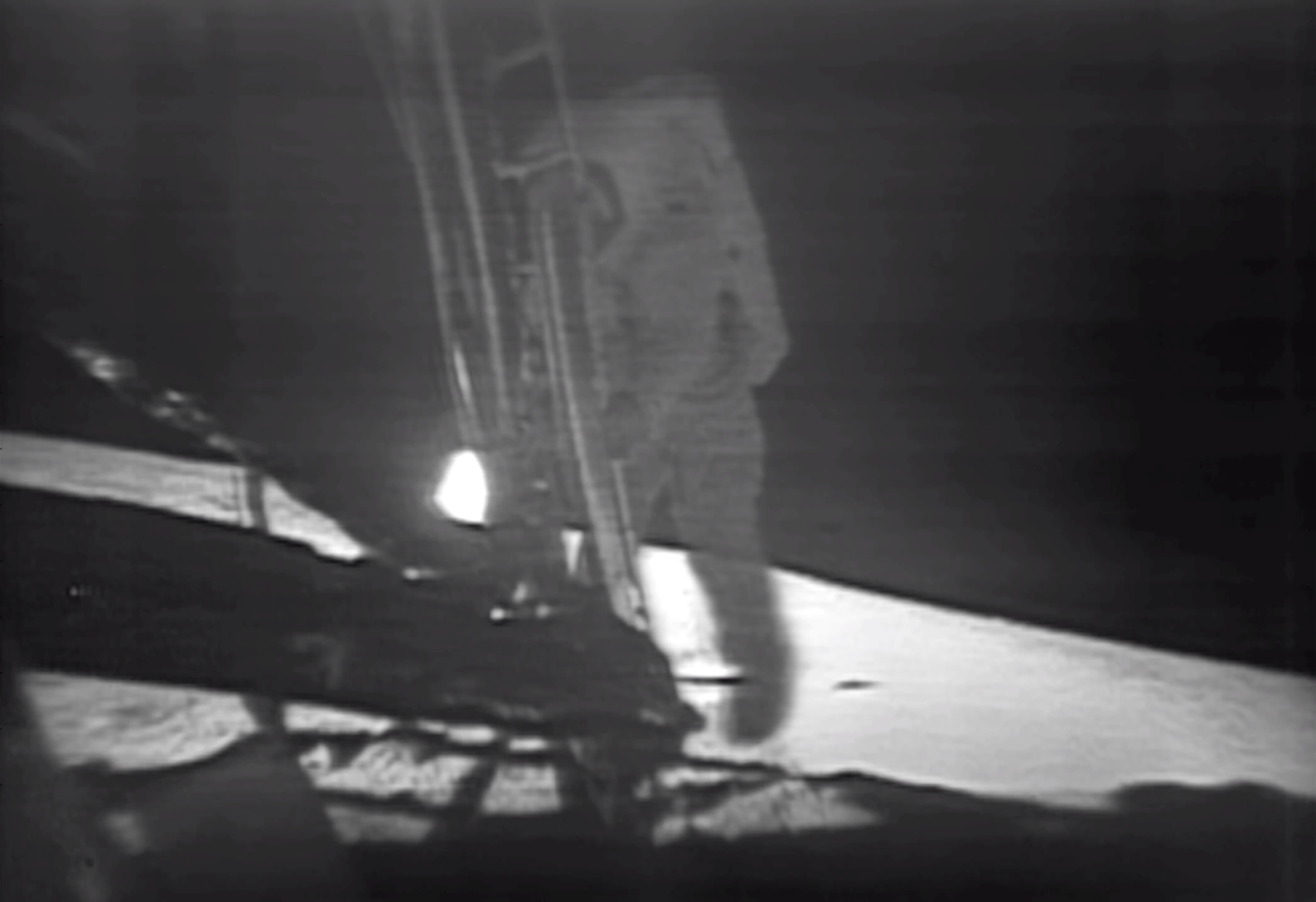 Proof of Apollo 11 On Stage In Geographic Documentary |Moon First Step Onto
