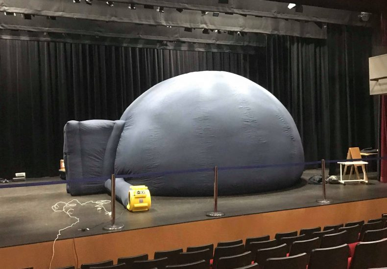 A big blow-up dome on a stage