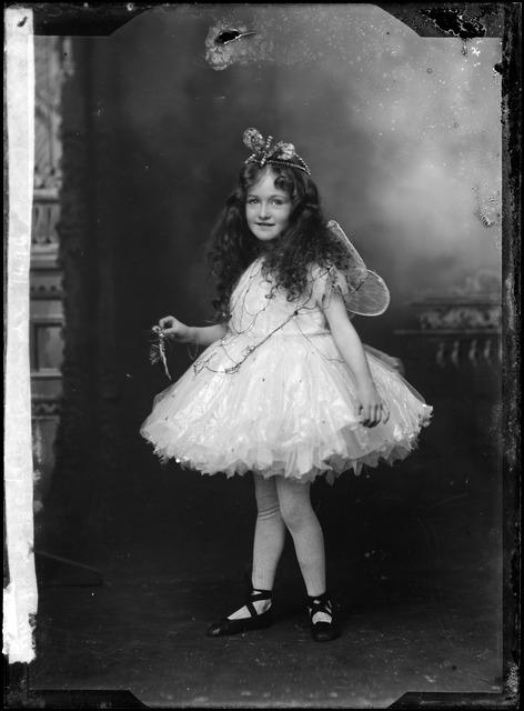 A girl dressed as a fairy