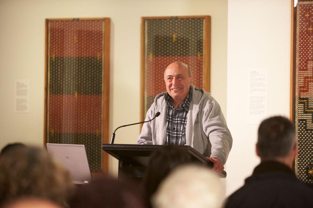 Piri speaking to an audience
