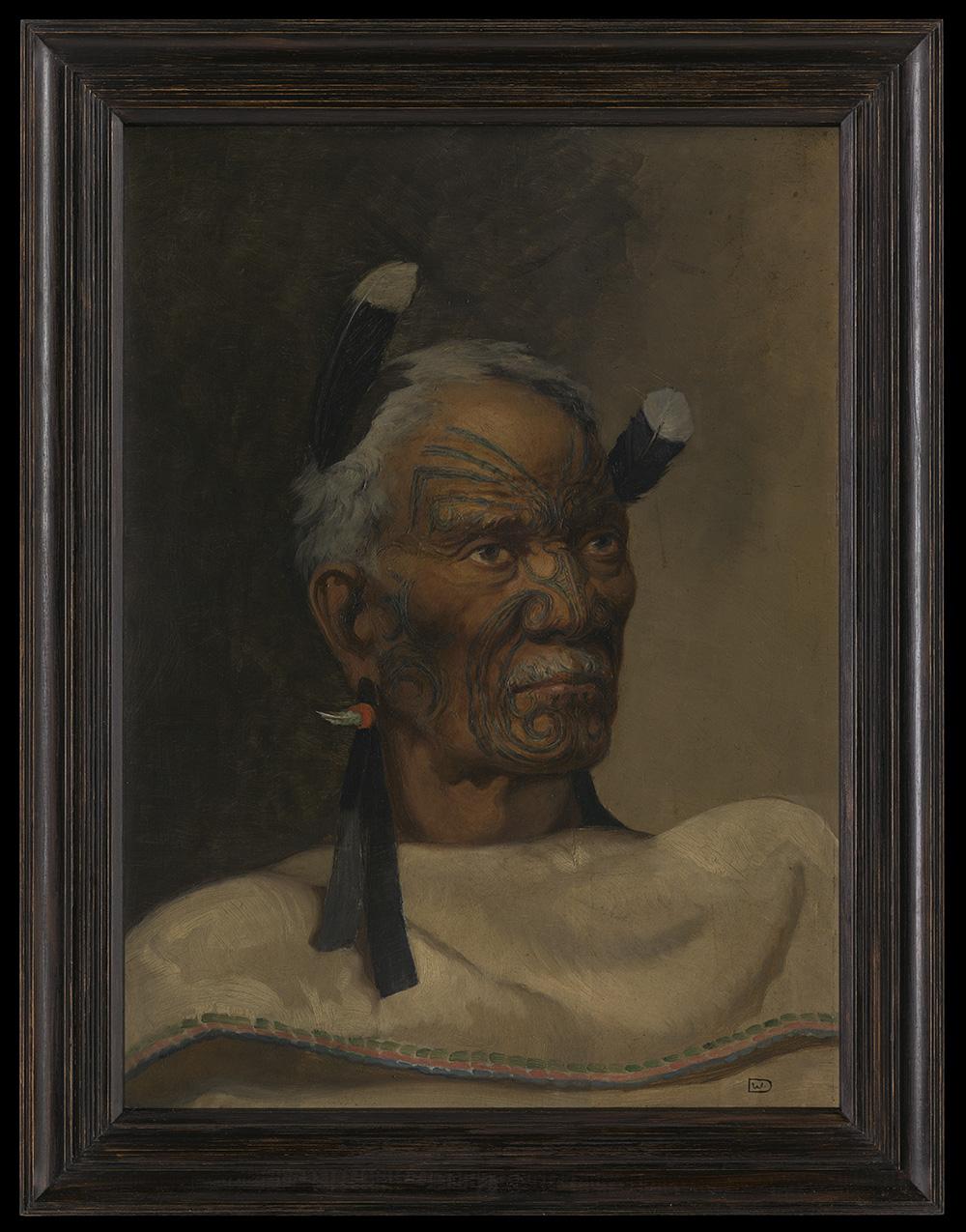 Portrait of a Māori chief